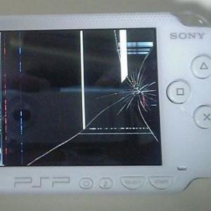 разбитый дисплей PSP