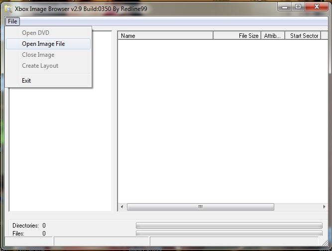 XboxI mage Browser выбор образа