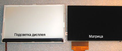 матрица и подсветка дисплея PSP