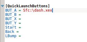 настройка горячих кнопок в Dashlaunch